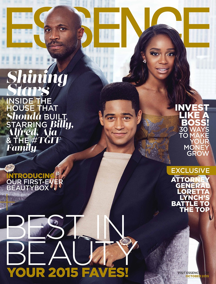 Aja Naomi King covers Essence Magazine October 2015