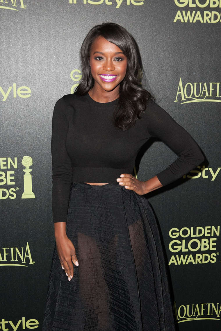 Aja Naomi King at InStyle's 2015 Golden Globe Award Season Party
