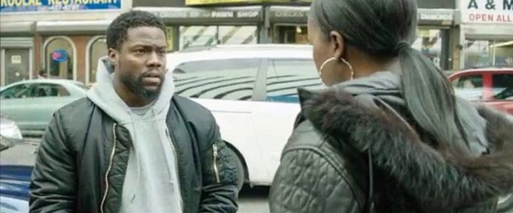Kevin Hart and Aja Naomi King in Untouchable