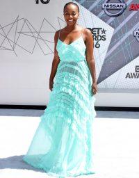 Aja Naomi King arriving at the 2016 BET Awards