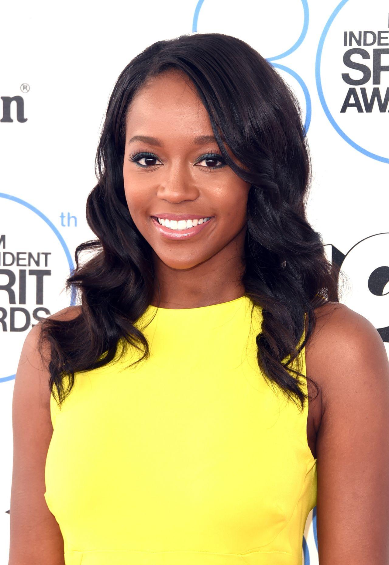 Aja Naomi King at the 2015 Film Independent Spirit Awards
