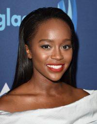 Aja Naomi King at the 2015 GLAAD Media Awards