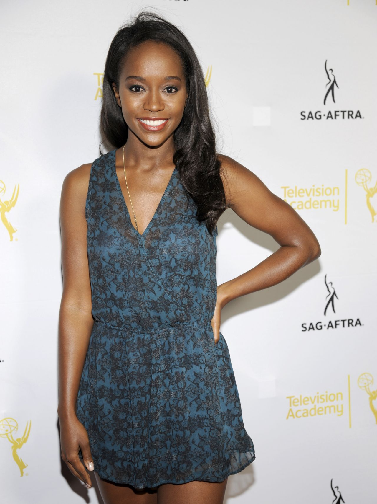 Aja Naomi King at 2014 Emmy Awards Dynamic and Diverse Nominee Reception