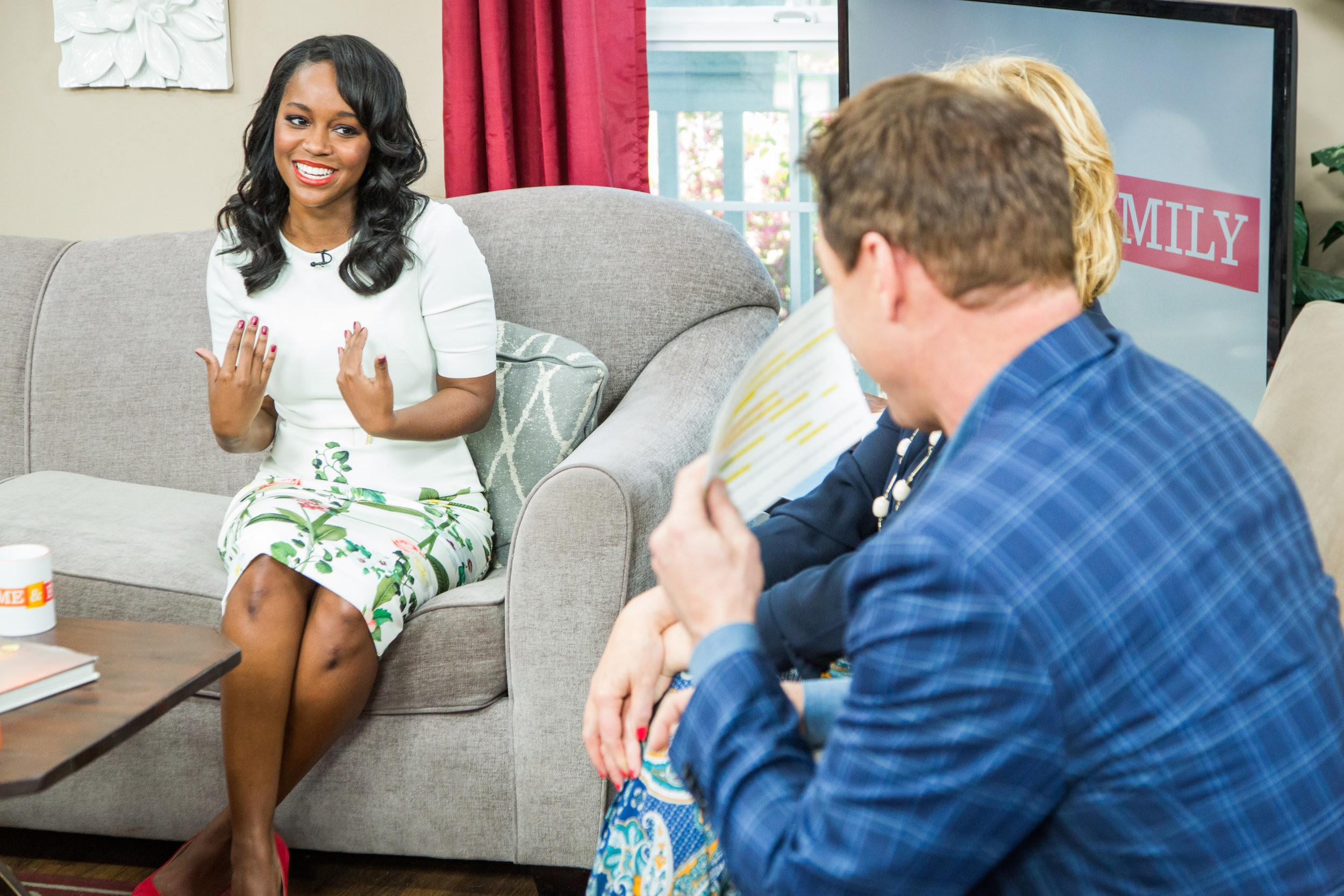 "Aja Naomi King on Hallmark Channel's ""Home & Family"" in 2016"