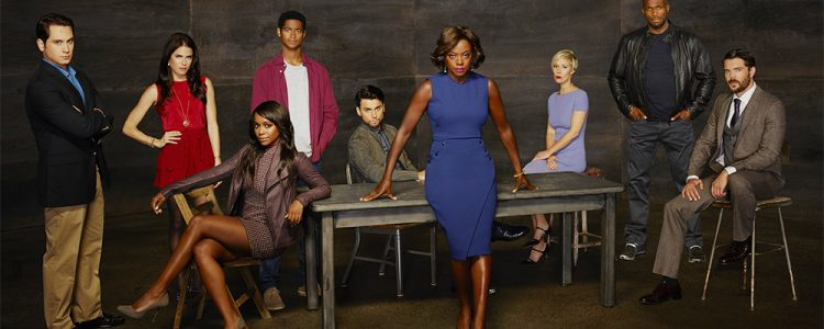 Matt McGorry, Karla Souza, Aja Naomi King, Alfred Enoch, Jack Falahee, Viola Davis, Liza Weil, Billy Brown, and Charlie Webber of HTGAWM