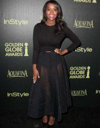 Aja Naomi King at InStyle's 2015 Golden Globe Award Season Party
