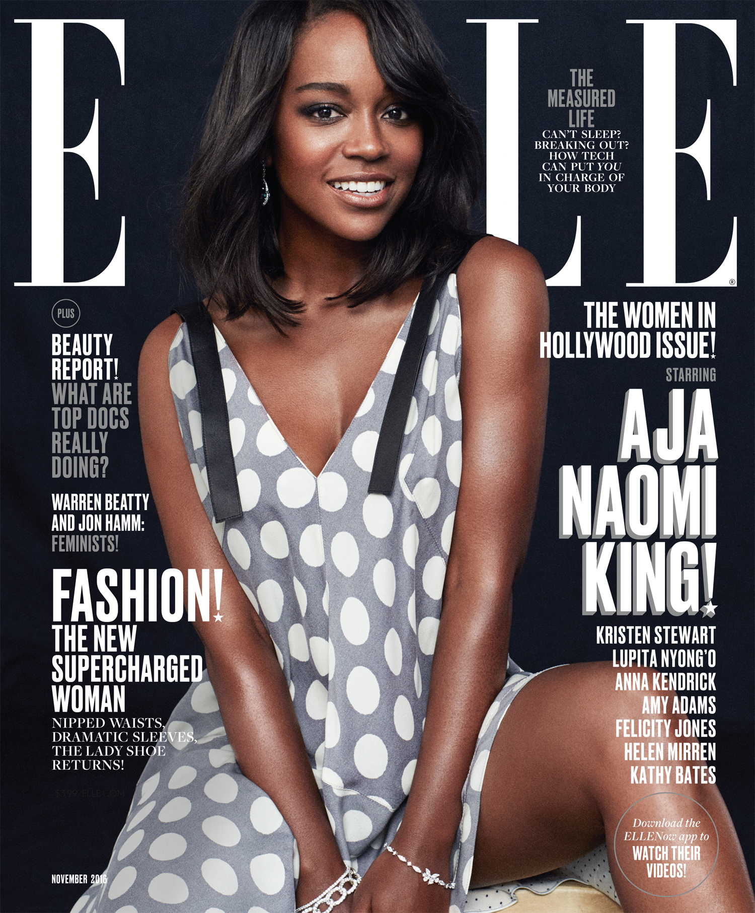 Aja Naomi King is on the cover of Elle's November 2016 Women in Hollywood issue!