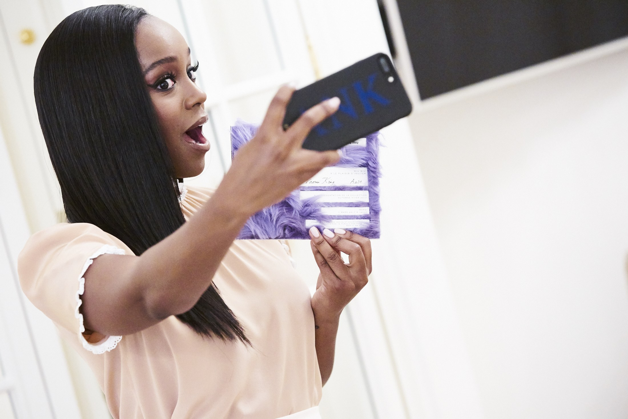 W Magazine: Getting Ready With Aja Naomi King